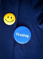 Pixabay sign on a button