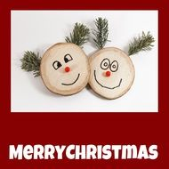 wooden faces decoration for christmas