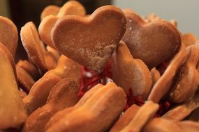 sweet dessert cookies heart