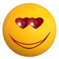 smile emoticon love ball face drawing