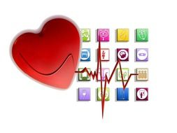 heart cardiogram and icons