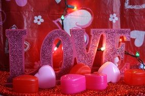 pink decorations for Valentine's Day
