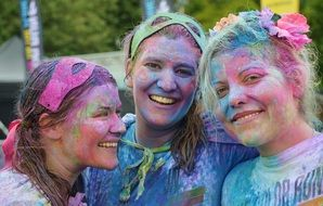 colorful people smile