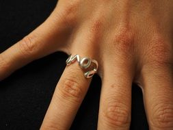 love ring on finger