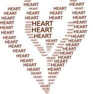heart words heart drawing