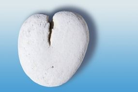 stone heart as a symbol of romance