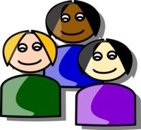 Group of the three women clipart