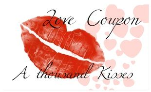 love coupon and thouoand kiss drawing