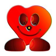 Smiling heart clipart