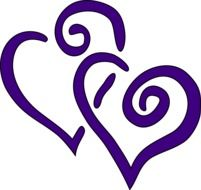 purple couple of hearts