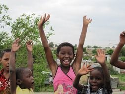 photo of happy african children