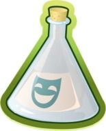 drawig of erlenmeyer flask for chemistry