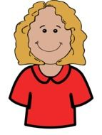 Smiling blond girl clipart