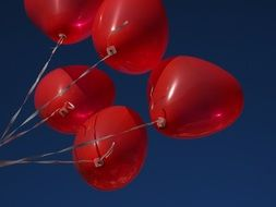 red balloons - a symbol of love