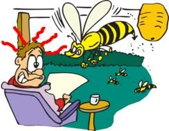 clipart of the man and the wasps