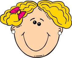 Blond smiling girl clipart