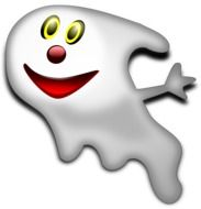 Smiling Halloween ghost clipart
