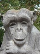 Stone monkey sculptures