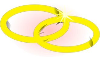 two golden rings as a graphic image