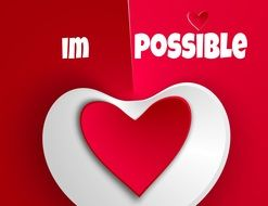 im possible heart text drawing