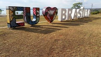 eu love brasilia text