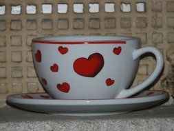 cup with heart love