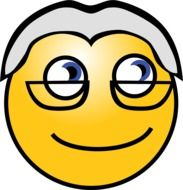 Old man with the glasses clipart
