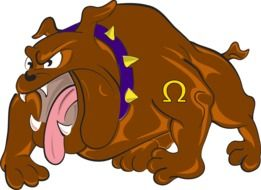 graphic image of a cartoon bulldog