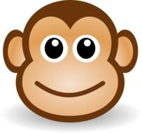 Smiling face of the monkey clipart