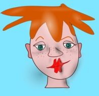 graphic image of a redheaded funny girl