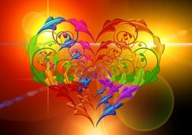 absract colorful heart