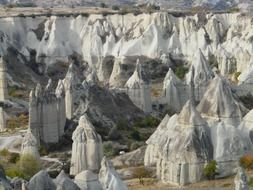 grey fairy chimneys