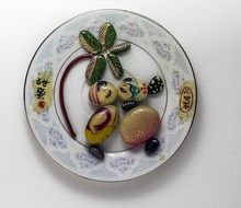 Chinese porcelain decoration on a plate