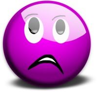 sad violet emoticon smiley