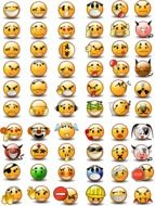 collage of variety of emoticons