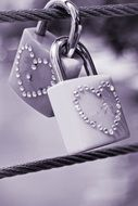 decorated padlocks