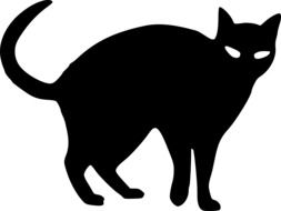 graphic image of a black cat