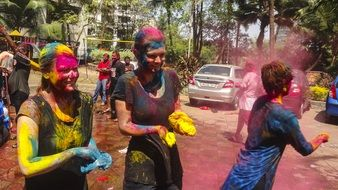 Festival of colors in Asia