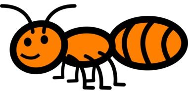 Orange ant clipart