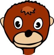 monkey head cartoon drawing