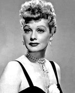 black and white portrait of lucille ball
