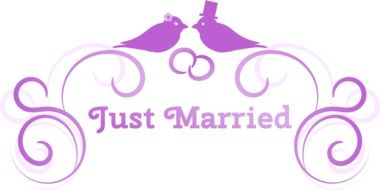 just married drawing
