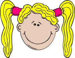 Blonde smiling girl clipart
