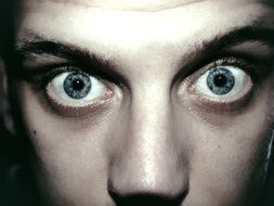 man eyes portrait