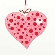 polka dots heart drawing