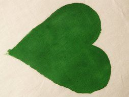 green heart as a symbol of romance