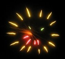 fireworks smiley face drawing