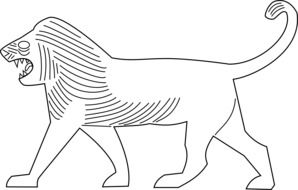lion walking as an illustration
