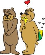 bears in love as a symbol of romance