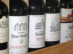 french red wine bottles